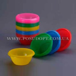Миска (пластик, цветная) 0,5л