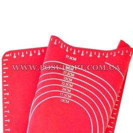Коврик силиконовый для раскатки теста (50х40х0,1)см.