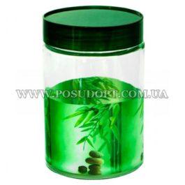 Емкость для сыпучих продуктов 1,1 л. (Зеленый бамбук)