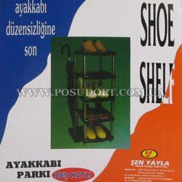 """Полка обувная 5-ти ярусная с подстакой для зонтов (37x57x81)см. (Турция, """"Senyayla"""")"""