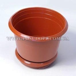 Цветочный горшок (пластик) d=165 мм
