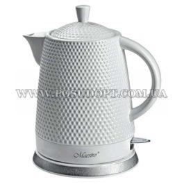 """Чайник электрический 1,5л (дисковый нагреватель, экологически чистая керамика) """"Maestro-069"""" 1200W"""